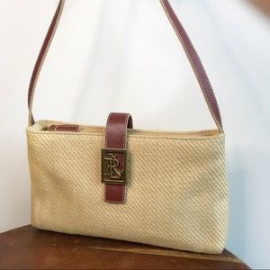EUC LAUREN Ralph Lauren Straw Buckle Bag